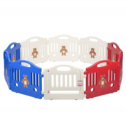 10 Panel Safety Play Center Yard Baby Playpen Kids Home Indoor Outdoor Pen by BestMassage
