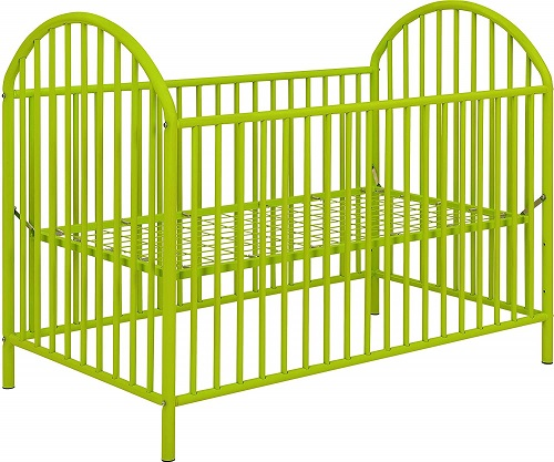 Ameriwood HomePrism Metal Crib Lime Green