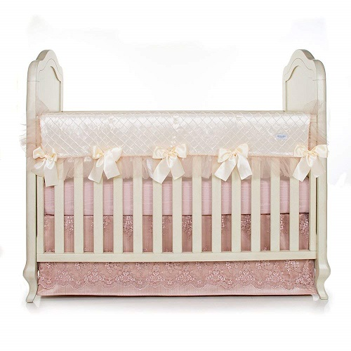 Glenna Jean Remember My Love Convertible Crib Rail Protector Long