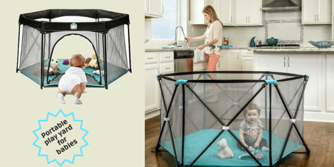 Portable play yard for Babies