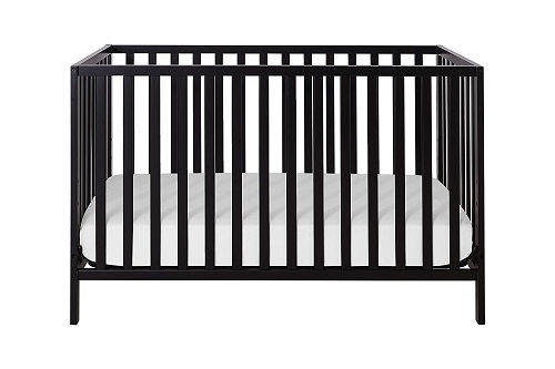 Union 2 in 1 Convertible Crib Ebony Black